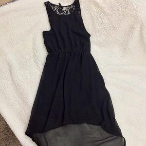 H&M Divided Hi-Low Black Dress
